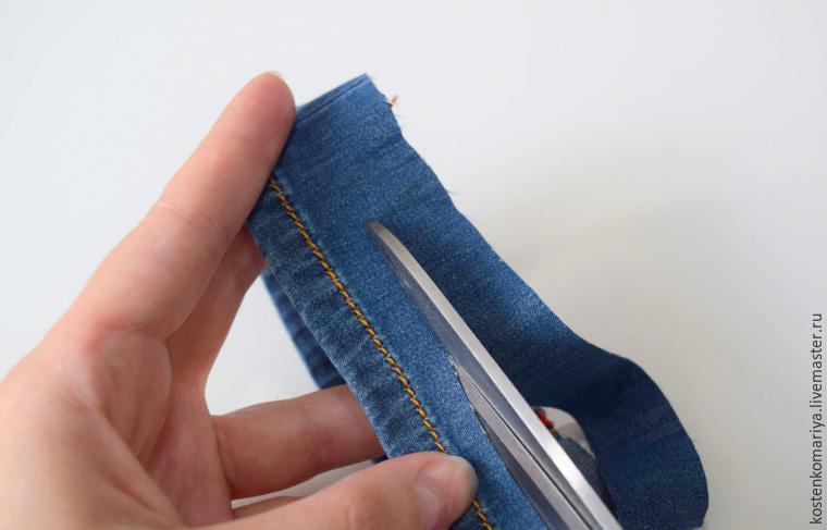 Как укоротить джинсы своими руками