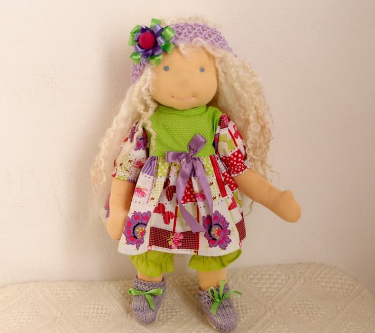 вальдорфская кукла, кукла, локоны