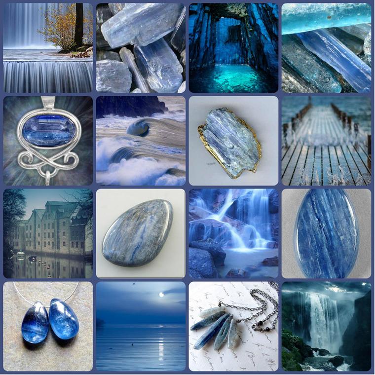 поделочные камни, голубой, вода, серый