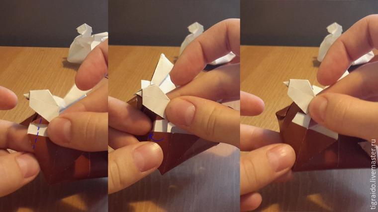 Оригами: пасхальная курочка, фото № 26