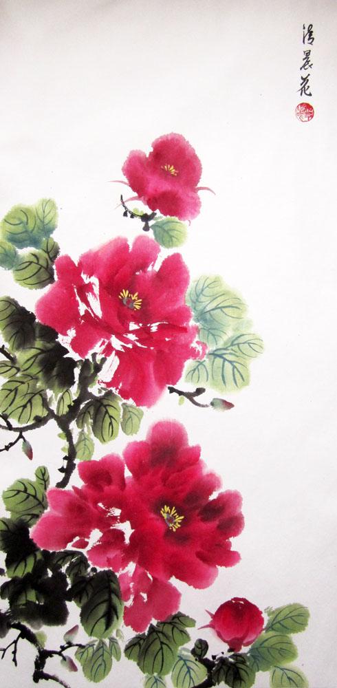 китайская живопись, арт-корпорация, елена касьяненко, студия живописи, обучение живописи, для начинающих, пион, цветы, древовидный пион, гохуа, се-и, уроки живописи, живопись для взрослых