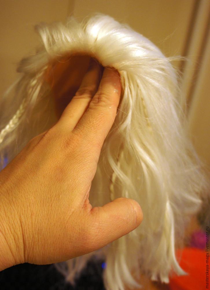 как сделать парик кукле поэтапно фото