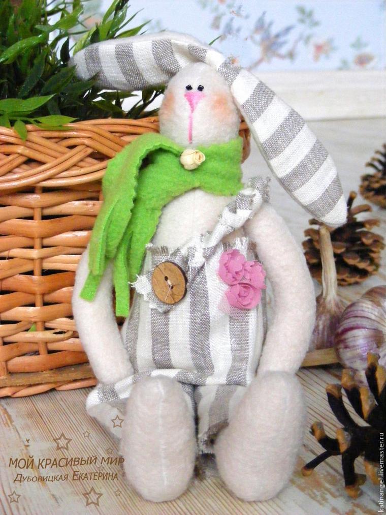 мастер-класс тильда, заяц тильда, игрушки ручной работы, игрушка в подарок, зайчик своими руками