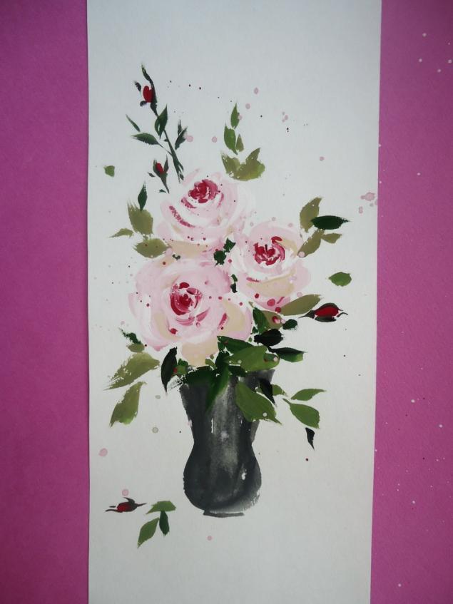 акция, натали котова, мастеркласс, живопись, обучение живописи, розы, рисование, гуашь