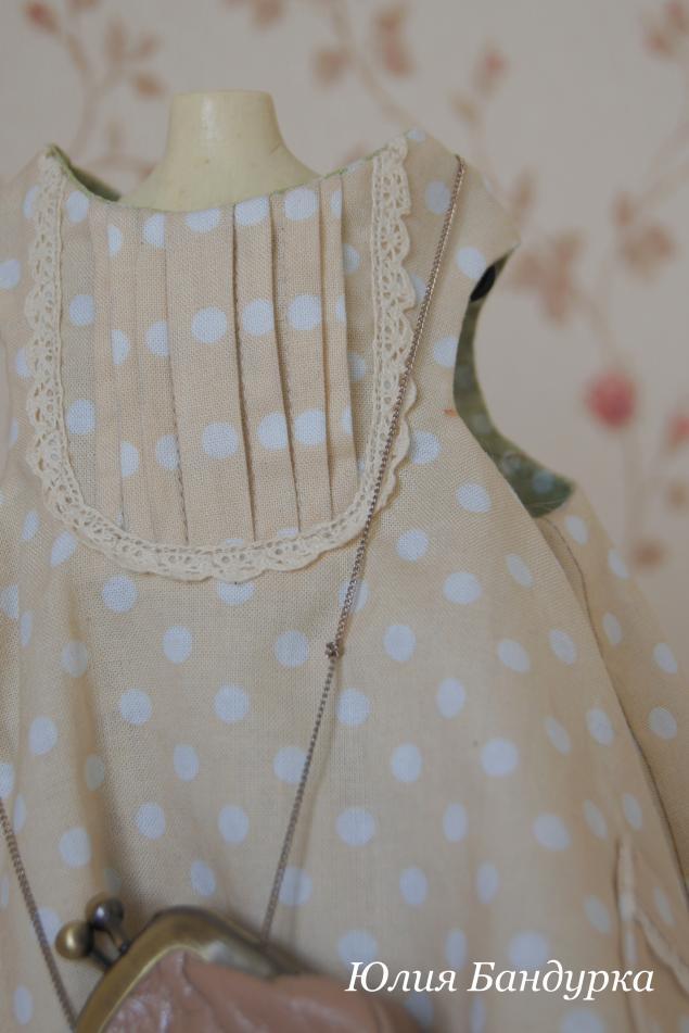 мишки, одежда для кукол, нарядное платье