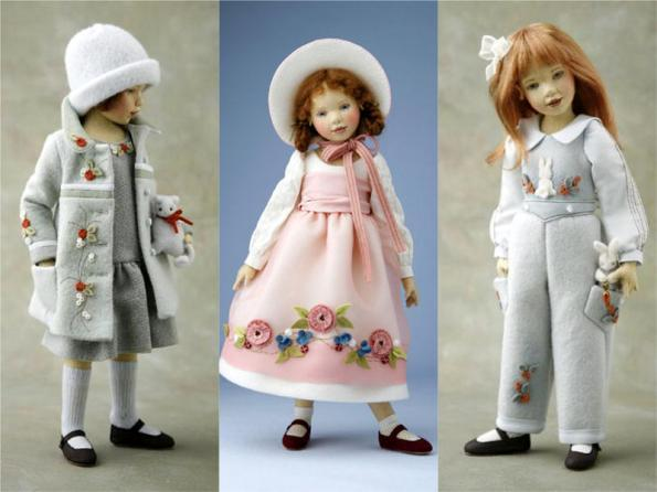 Платье из фетра для кукол