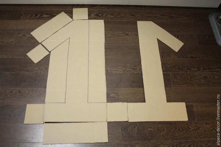 Объемная цифра 1 своими руками с размерами 71