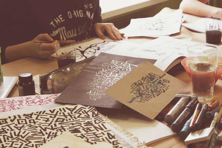 каллиграфия, лбучение в москве, арт-студия
