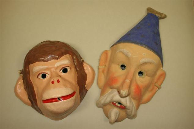 Новогодние маски своими руками папье маше