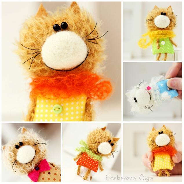 тедди кот, кошки брошки, брошка, миниатюра, цветные зверята, подарок, миниатюрная игрушка, авторская игрушка, фарберова ольга