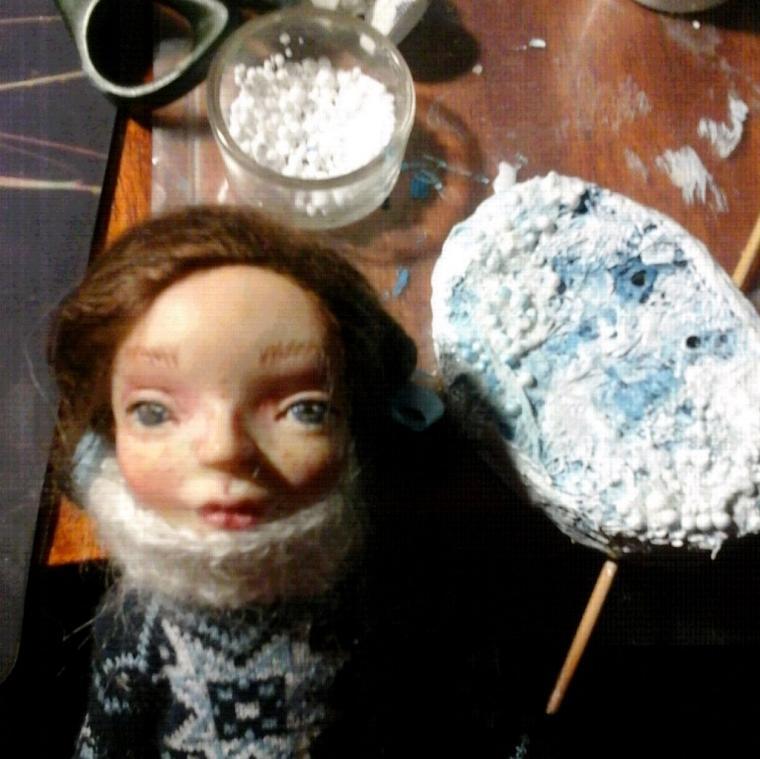 кукла, ручная работа, фимо