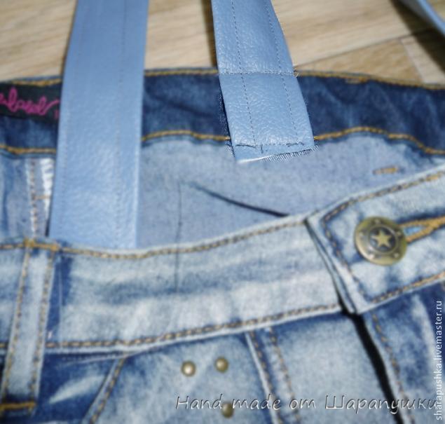 сумку из старых джинсов