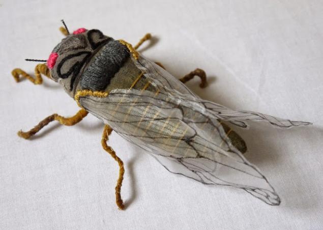 Дивные текстильные насекомые от мастера Yumi Okita, фото № 11