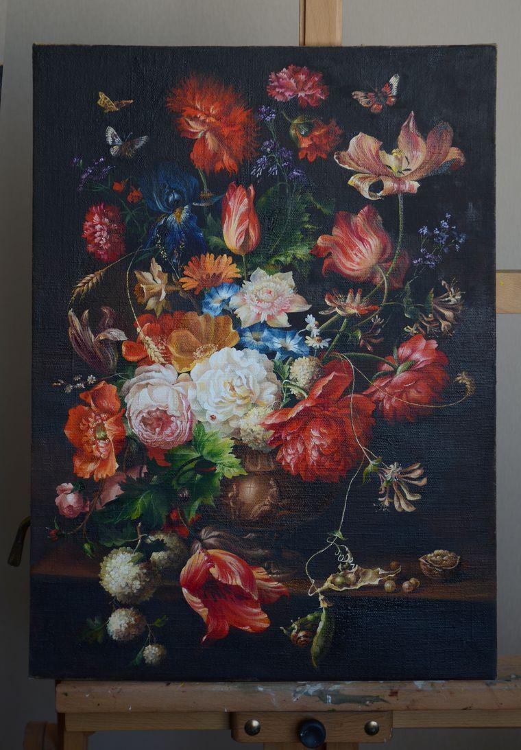 копия, голландские мотивы, натюрморт с цветами