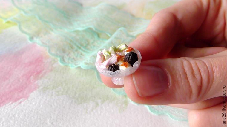 кукольная еда, миниатюрная посуда, лепка из полимерной глины, мастер-класс по миниатюре, урок по лепке, видео мастер-класс