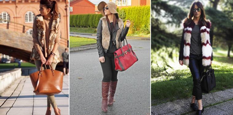 С чем носить меховой жилет: фотопособие, фото № 10