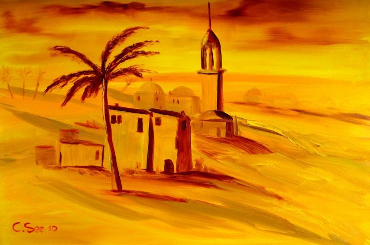 пустынный город рисунок очень редкий, так