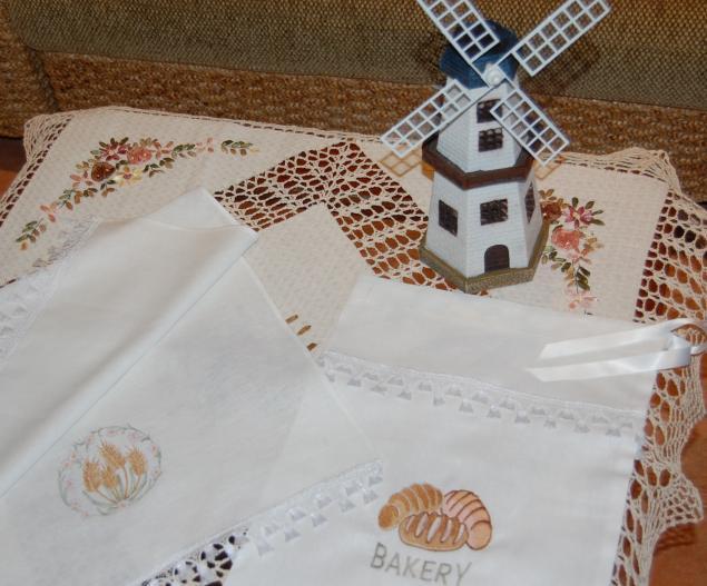 льняное полотенце, вышивка, мешочек вышитый