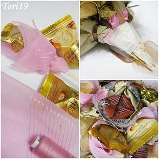 цветы из конфет, подарок женщине