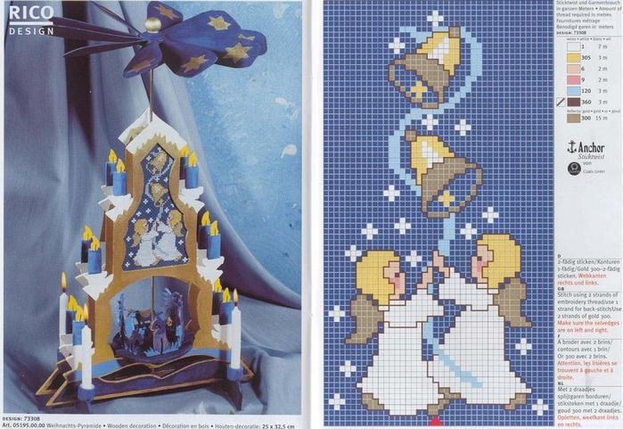 Вышивка крестом новогодних открыток и 893
