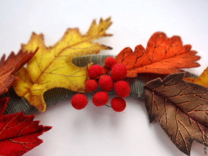 DIY Autumn Wreath Without Felting, фото № 19