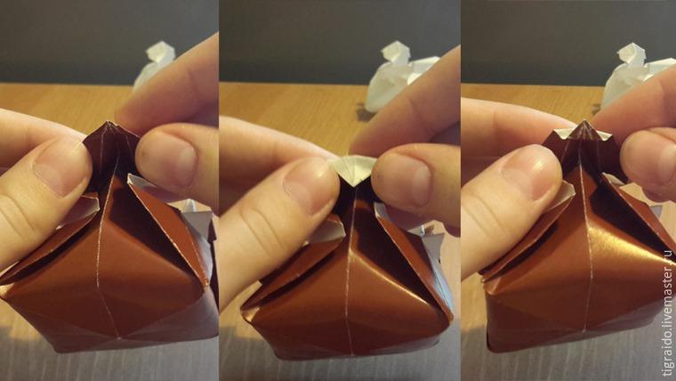Оригами: пасхальная курочка, фото № 24