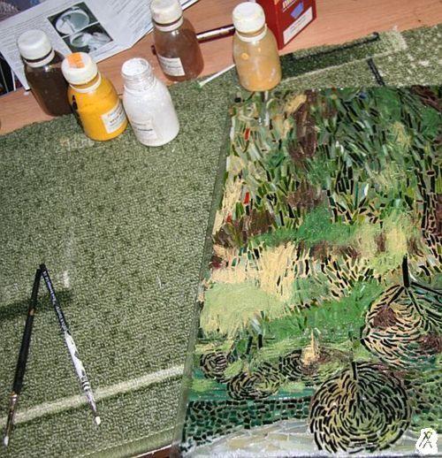 затирка мозаики, климт