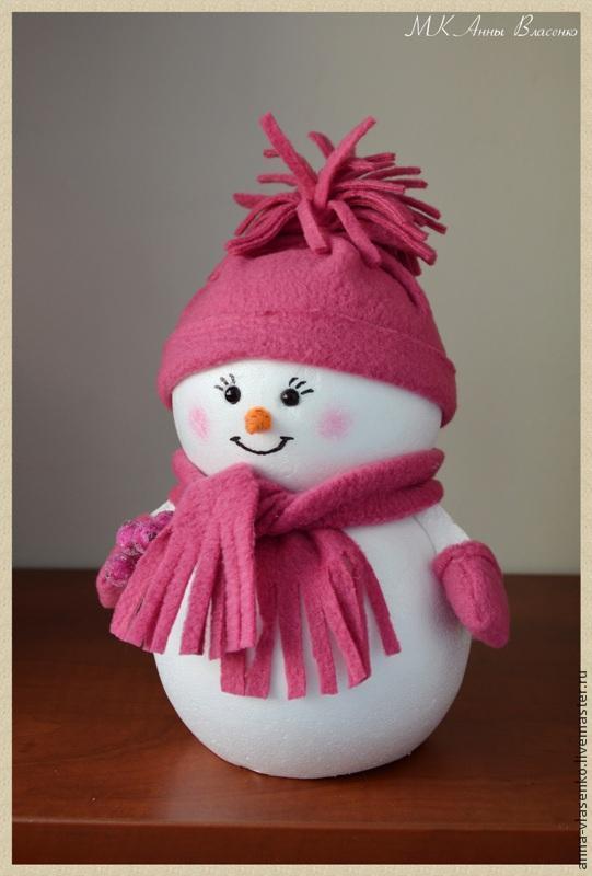 Новогодний снеговик своими руками мастер класс