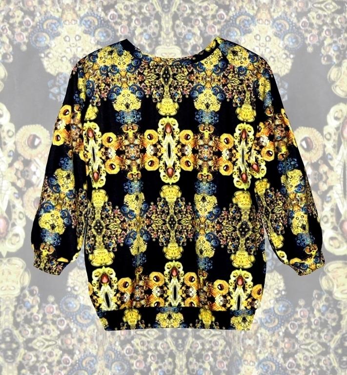 распродажа, принт, pavocreations, дизайнерские украшения, джемпер, кофточка, брюки, цветочный, барокко, dolce gabbana