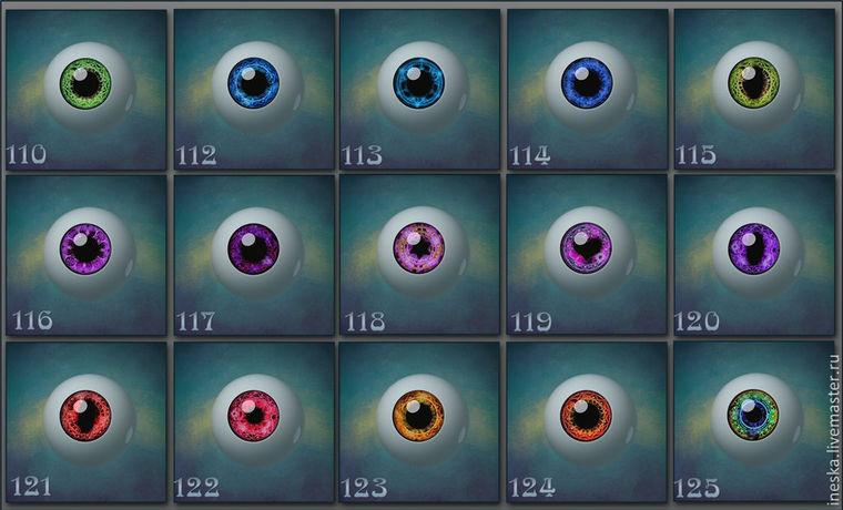 ручной работы глаза, глаза для шарнирки