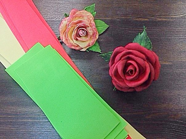 брошь, брошь-цветок, розы, цветы ручной работы, цветы, фоамиран, фоам, обучение, мастер-класс, подарок, украшение, украшения с цветами