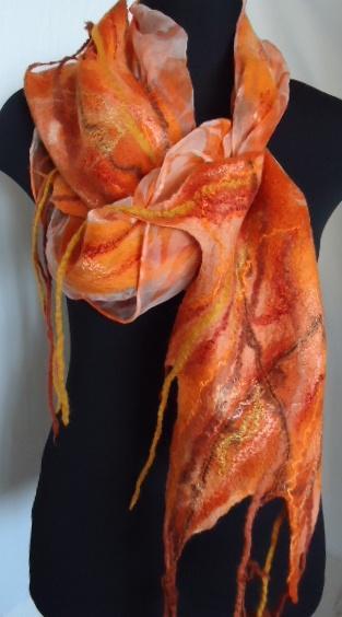 шерсть, шарфы на шелке