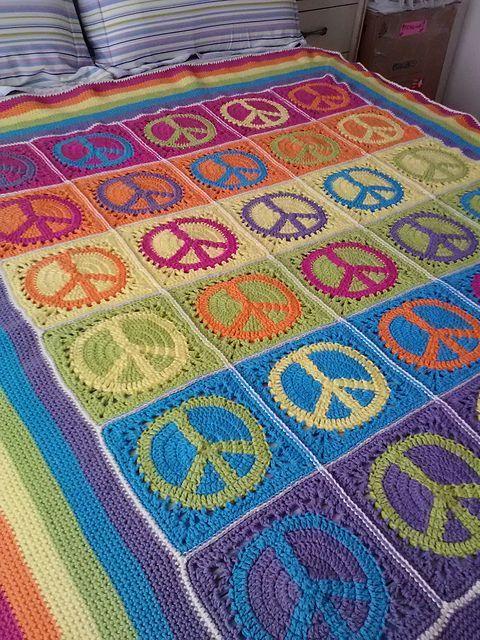 Peace, Love & Granny Afghan