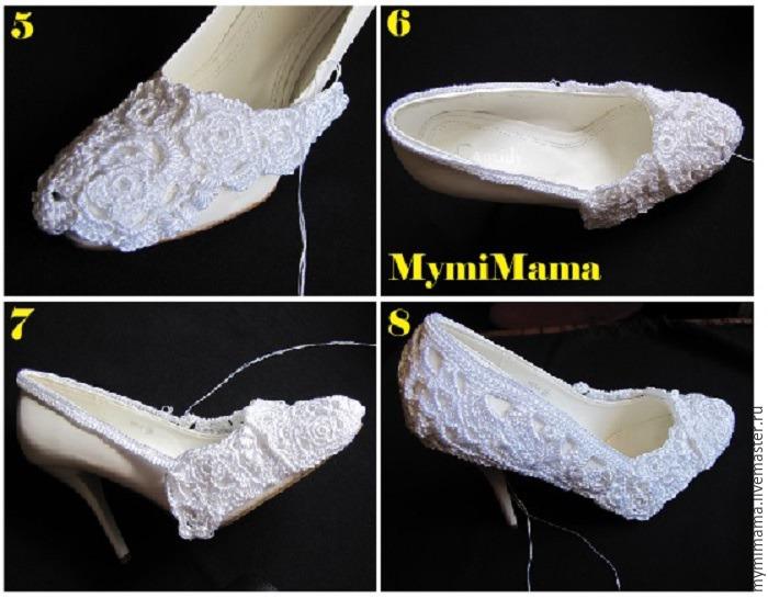вязанная обувь, туфли ручной работы