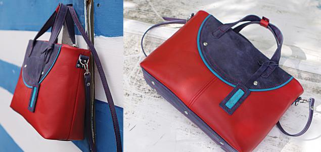 красная сумка, кожаная сумка