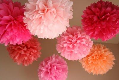 бумажные цветы, шары из бумаги, работа с бумагой, шары, цветы ручной работы, весна