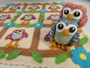 Happy Owl Afghan and Ami Pattern
