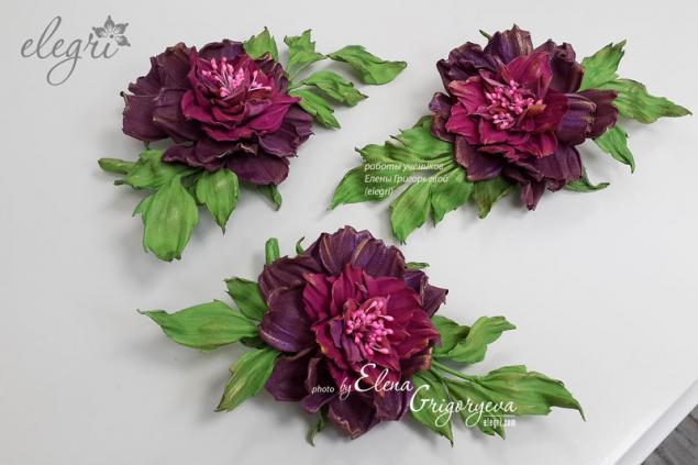 кожаные цветы, обучение цветоделию, авторские цветы, подарок девушке, кожаная флористика, эксклюзивная роза, цветоделие