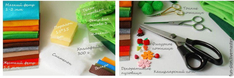 Шьем яркий и реалистичный игровой коврик из фетра, фото № 1