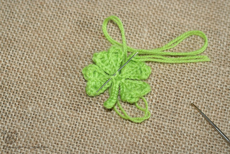 Crochetting a Four Leaf Clover, фото № 14