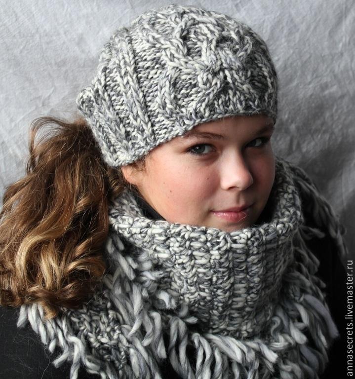 шапка бини, зимняя шапка, шапочка бини, шапка и шарф, платок