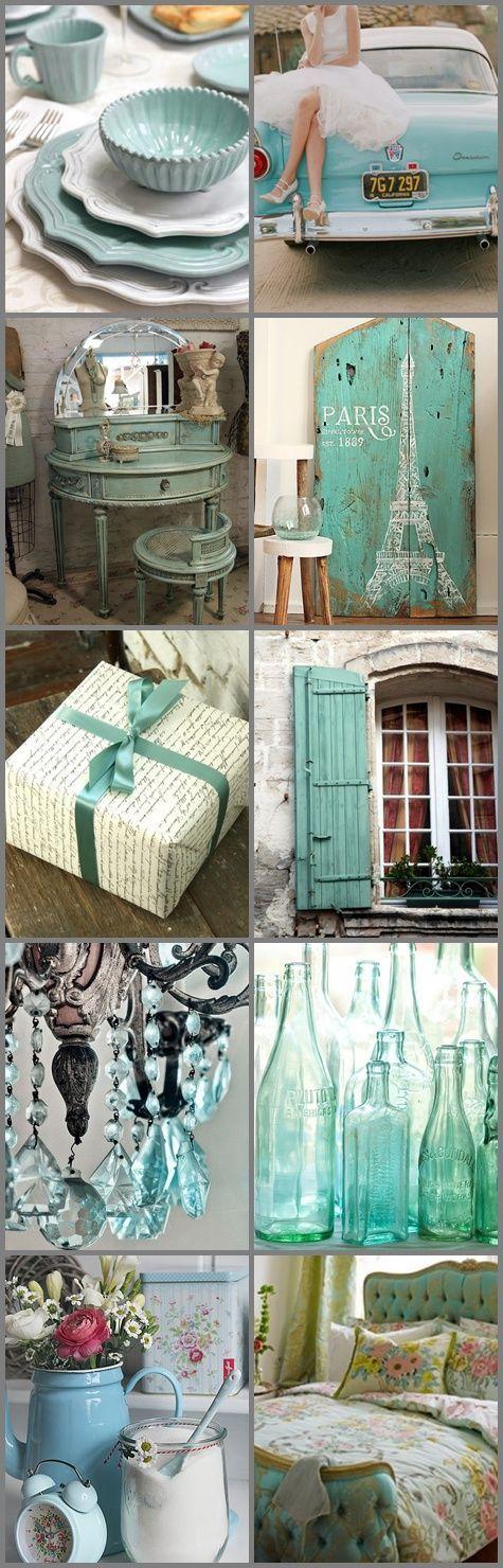 Awesome bundle of vintage turquoise and aqua inspiration