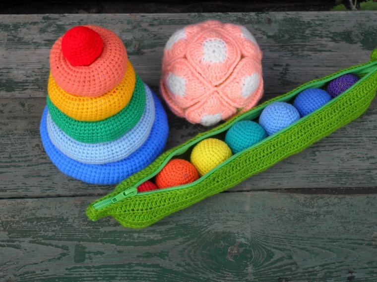 игрушки, вязание крючком