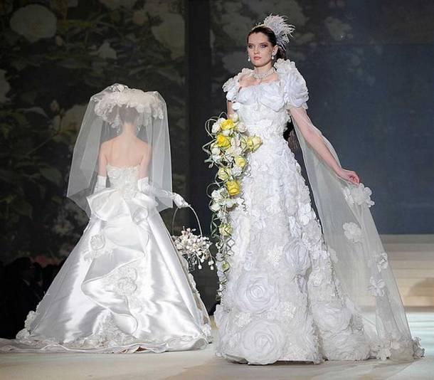 Дорогие свадебные платья в мире