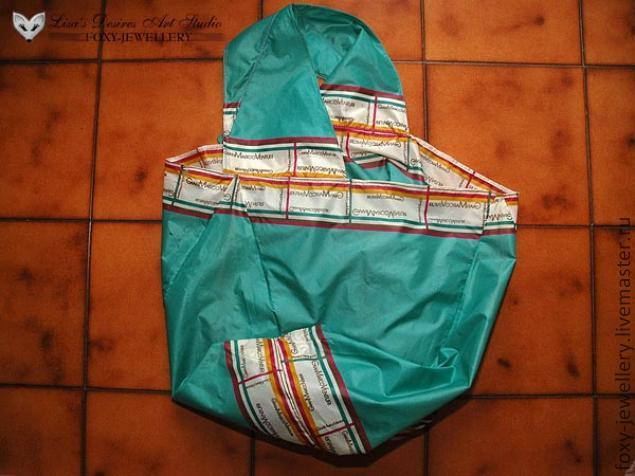Хозяйственная эко-сумка из старого зонтика.