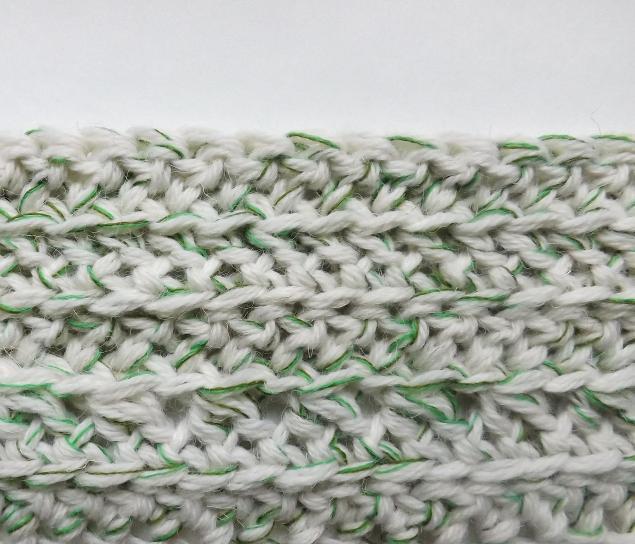 круговое вязание столбиками с накидом