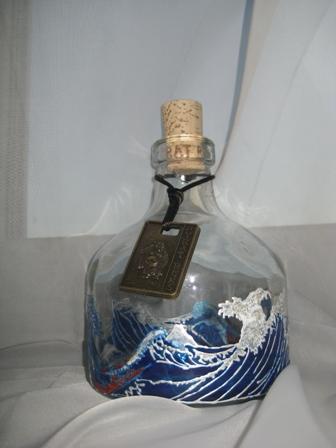 роспись по стеклу, морская тема, романтика