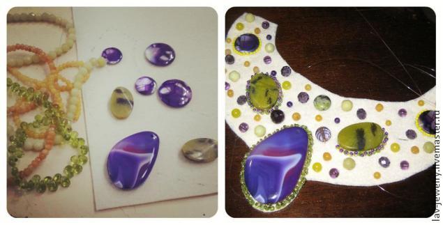 вышивка бисером, фиолетовый