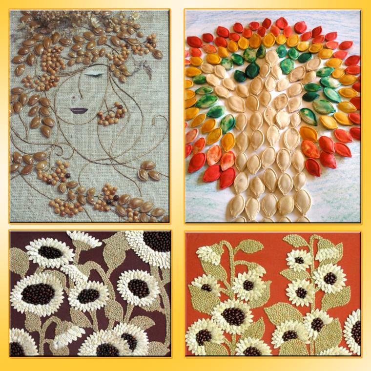 Поделки из семена тыквы