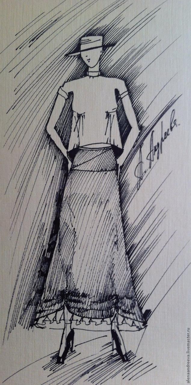 юбка на кокетке